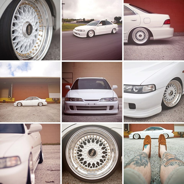 Stanced Acura Integra with BBS Wheels