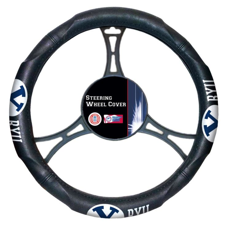 The Northwest Company BYU College Rubber Car Steering Wheel Cover