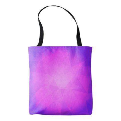 Abstract glow light purple triangle background tote bag - accessories accessory gift idea stylish unique custom