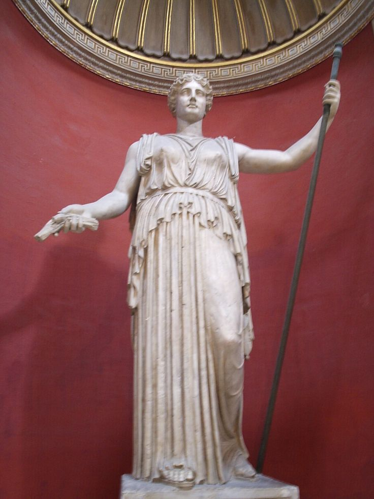 Colossal statue of #Demeter / #Ceres Greek / Roman Goddess of the Grain at the Vatican Museum.