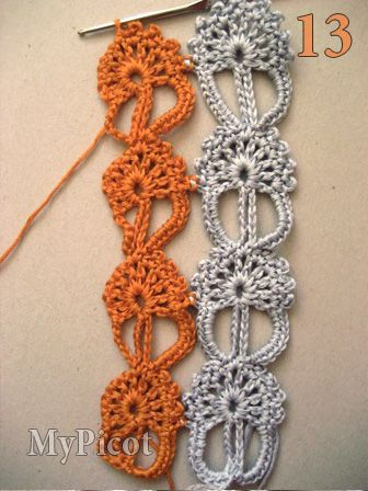 Lace stitch pattern with tutorial