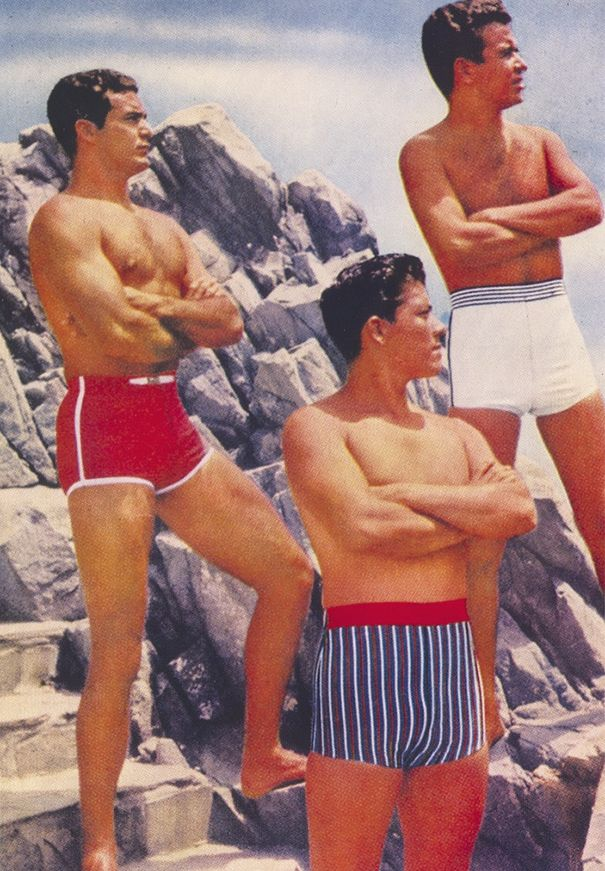 1970s Pics Of Men S Shorts Show A Forgotten Fashion Trend That Made Men Cool Vintage Swimsuits Men S Swimsuits Short Men Fashion
