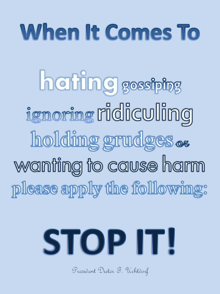 Just stop it. The FAIR blog tackles the issue of how we should treat supporters of Ordain Women.