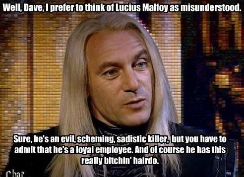 Jason Isaacs on Lucius Malfoy <3 jason issacs