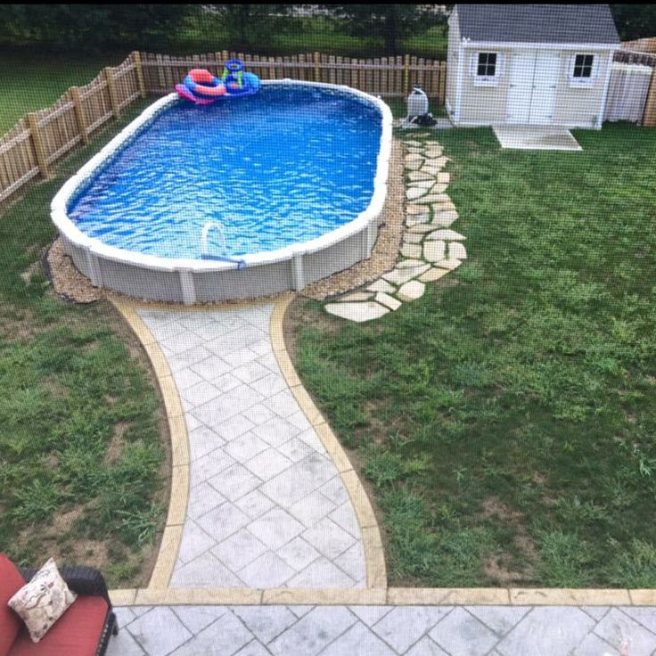 This is an above ground 54 39 pool submerged 17 39 30 39 into for Backyard makeover with pool