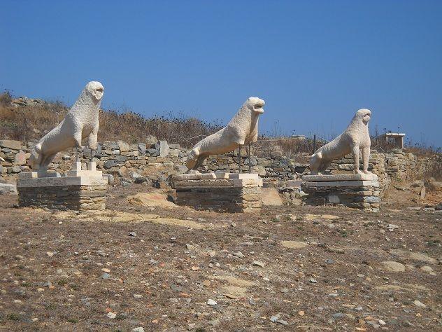 Delos Greece (Naxian lions)