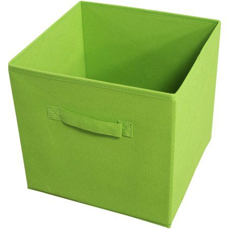 Collapsible Storage Bins Pack 4 Green