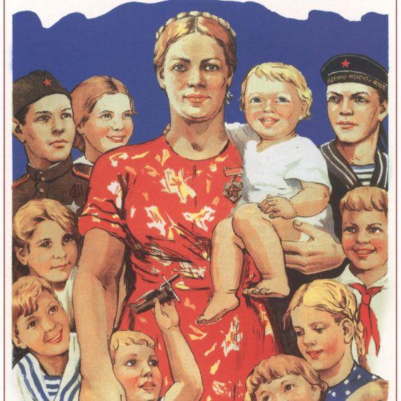 Poster propaganda Vintage propaganda Soviet poster by SovietPoster, $9.99