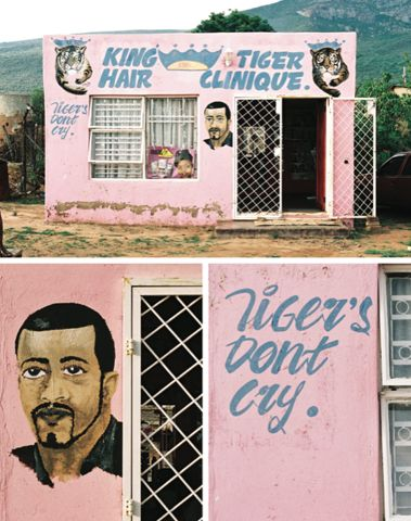 south african township barbers shop