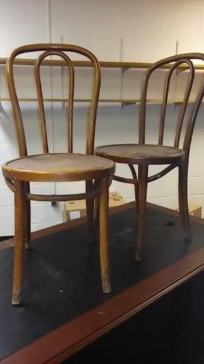 2 Antique Thonet Bent Wood Chairs In Original Condition One Chair