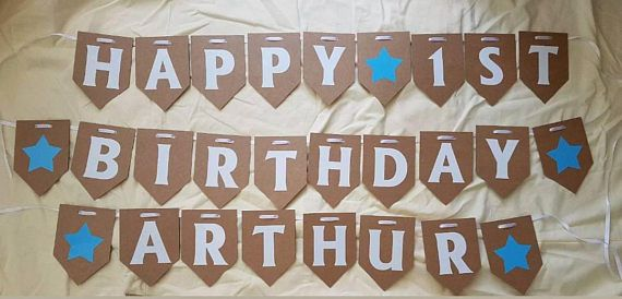Personalised Aged Happy Birthday Bunting / Banner. Party