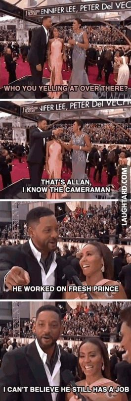 I think it says a lot about Will hat he remembers a cameraman and even remembers his name