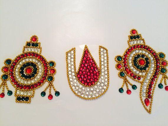 NaamaShanku Chakra Design/ Kundan Rangoli / by SampradayaAlankaran