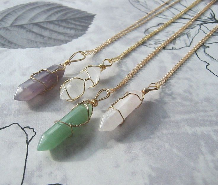 Quartz Crystal Point Natural Stone Reiki Necklace Pendant Wire Chain Healing | eBay