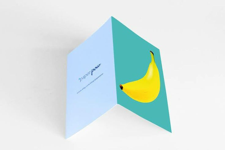 • petrol banana card •  visit our shop: www.etsy.com/shop/paperpow