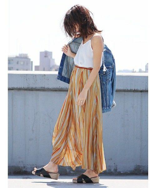 Ungrid(アングリッド)の「マルチストライプマキシスカート(スカート)」 詳細画像