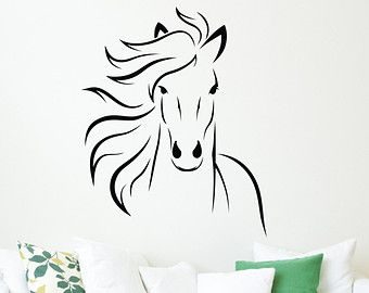 Mustang Horse Wall Decal Animal Vinyl Wall Decal Art Sticker Decor Stencil