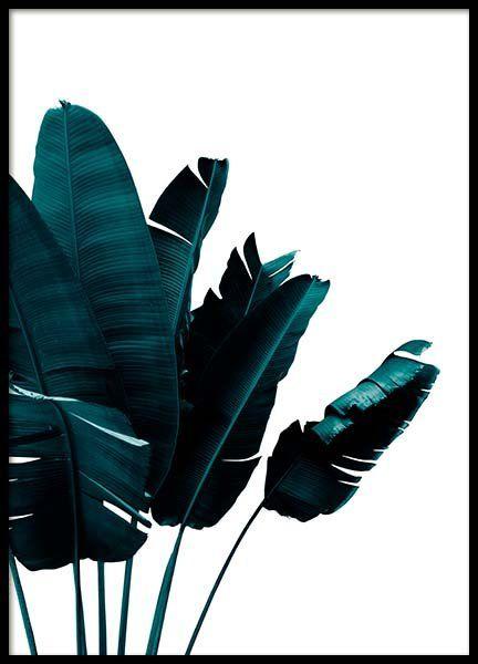 Moderna posters med gröna blad