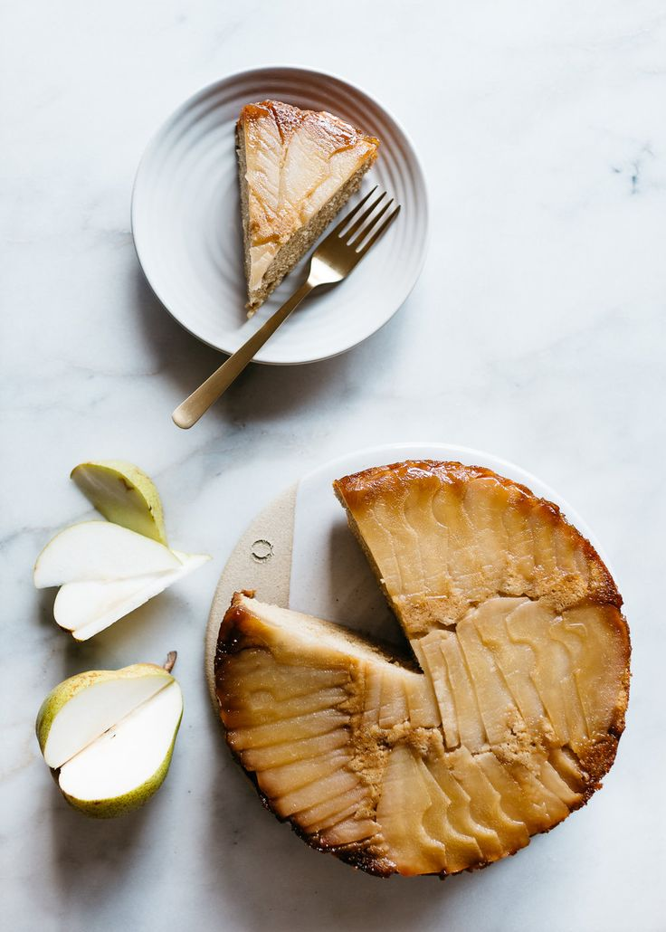 Cardamom Pear Upside-Down Cake from Julia Turshen's Small Victories #Cake #Pear #Cardamom