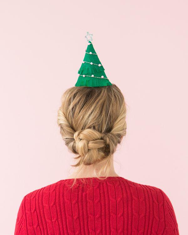~ DIY Christmas Tree Party Hats ~