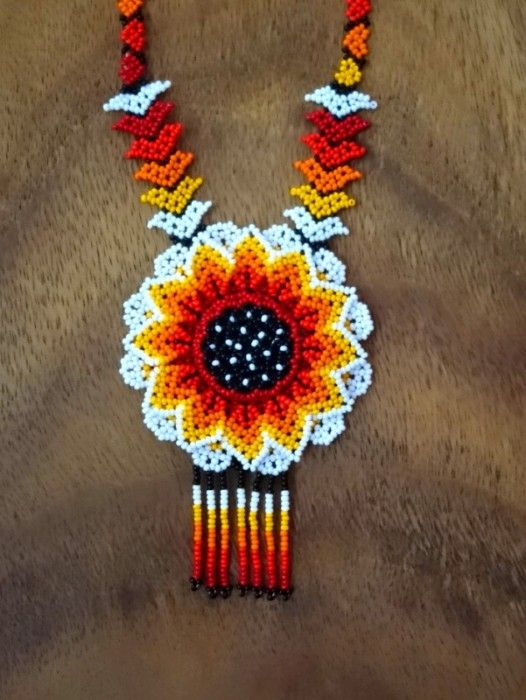 HUICHOL SHAMAN NECKLACE ~ MANDALA