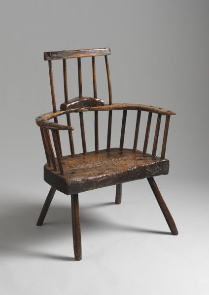Sculptural Primitive Windsor Armchair (Sold by Robert Young Antiques) #FolkArt
