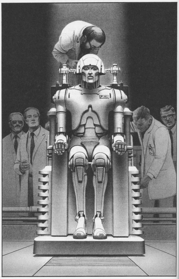 Positronic robots illustrations for Isaac Asimov Robot Vision by Ralph McQuarrie