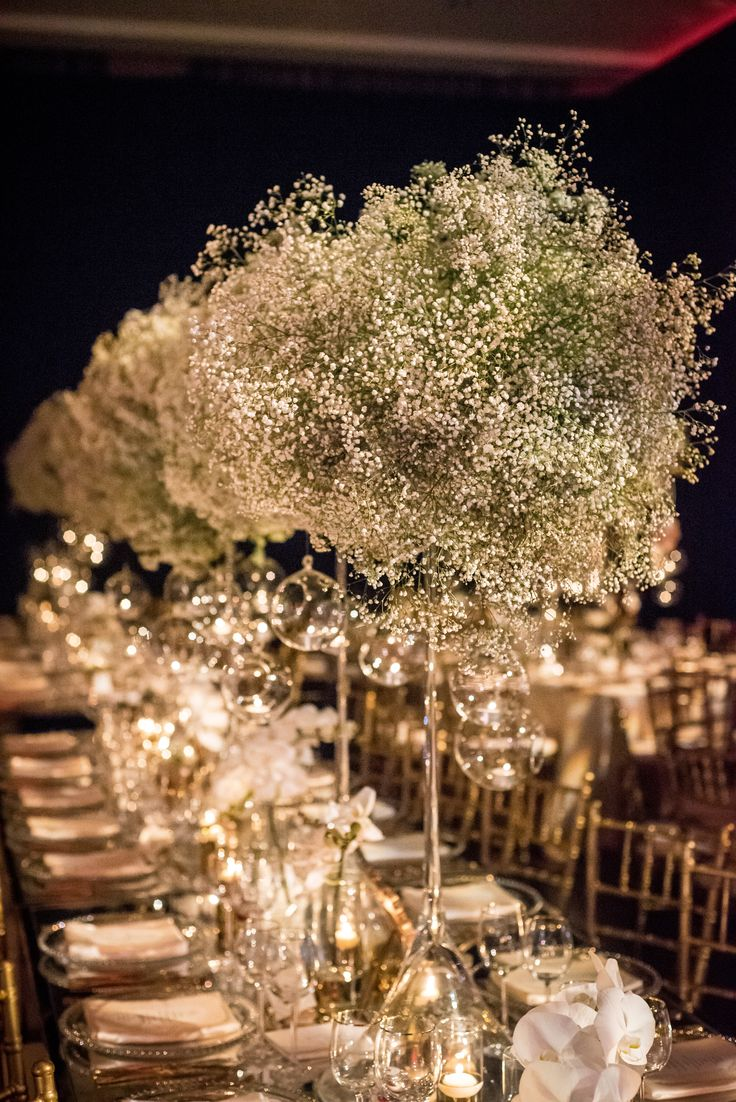 Baby S Breath Quot Cloud Quot Centerpieces Wedding Reception