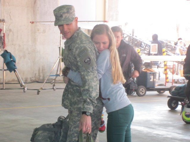 burgess jenkins army wives | ... wahlestedt ella wahlestedt and burgess jenkins on set of army wives