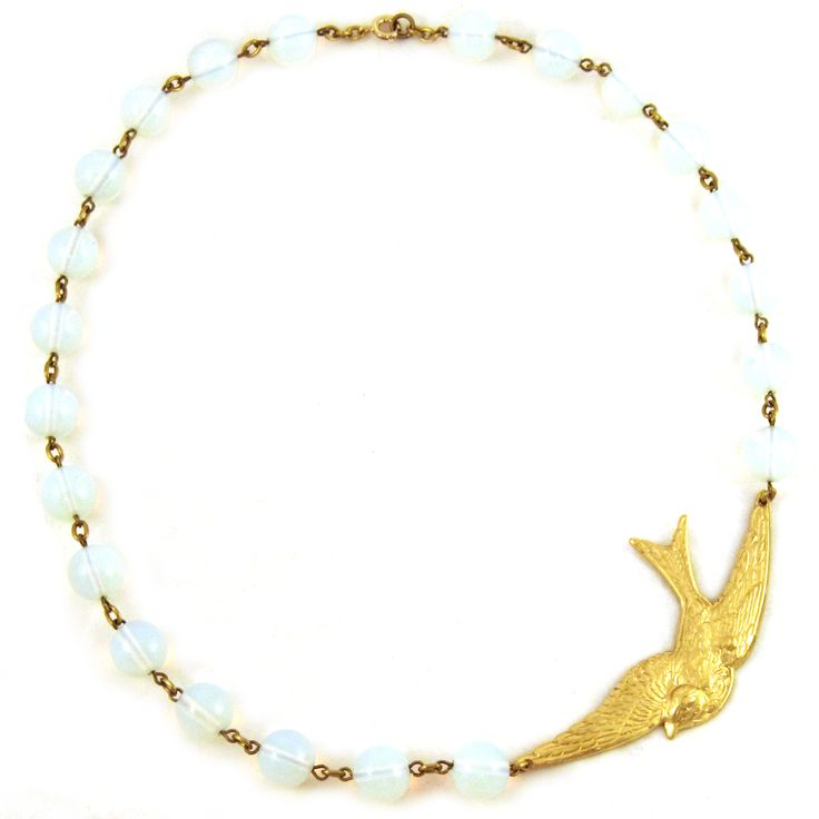 LITTLE BIRD IN MY DREAM NECKLACE http://bit.ly/1bdWThK www.Hipsterdolly.com
