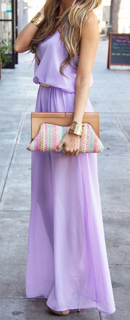 lavender maxi at www.hauteandrebel...