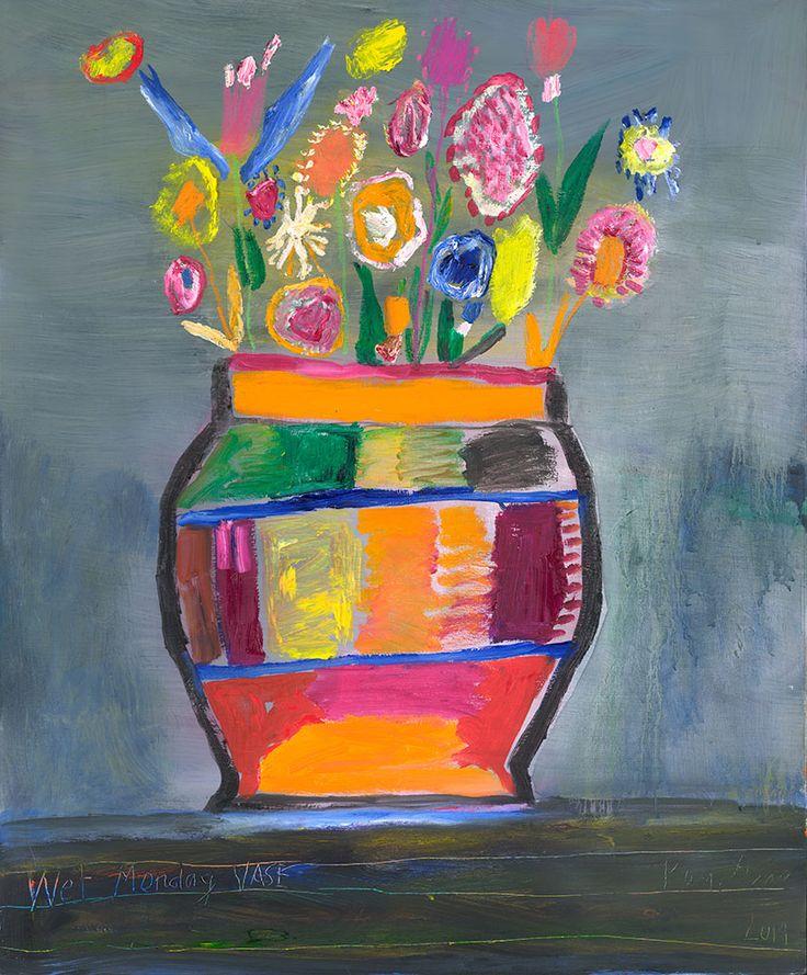 Ken Done - art / current exhibition / gallery / wet-monday-vase-2014