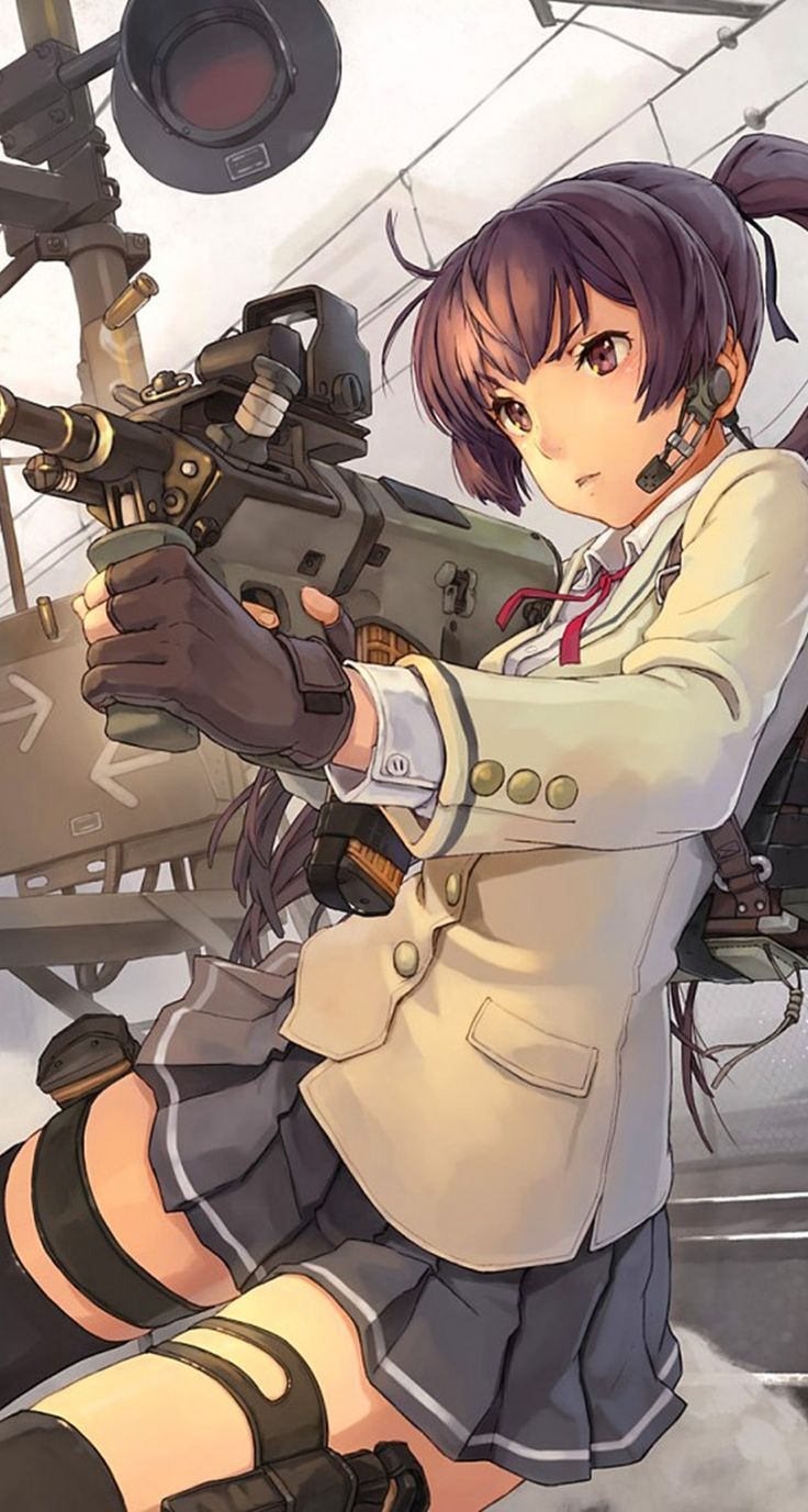 Shooter. Cool Anime Gun Girls iPhone Wallpapers mobile9