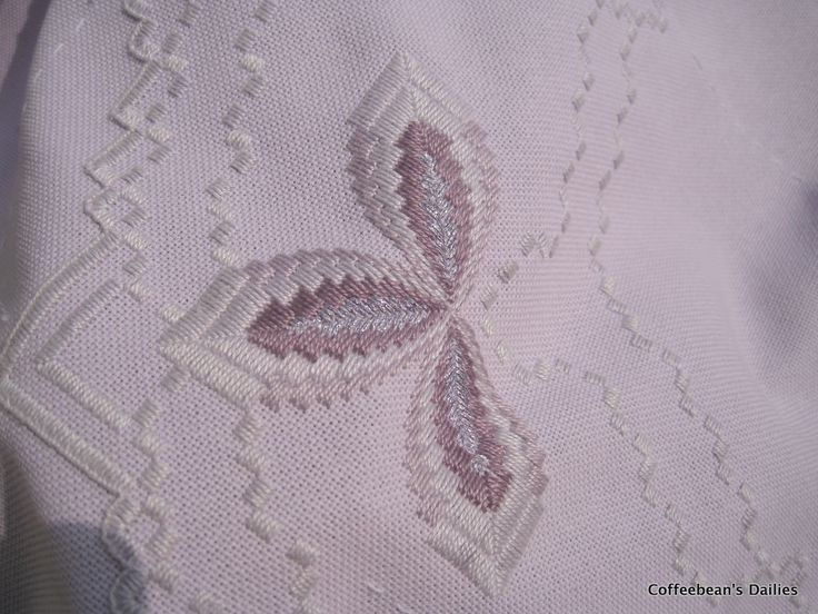 I have been working on my Hardanger Bargello a bit this past week. Here is the progress...  They might be a lot of the same pics... ;-)    ...
