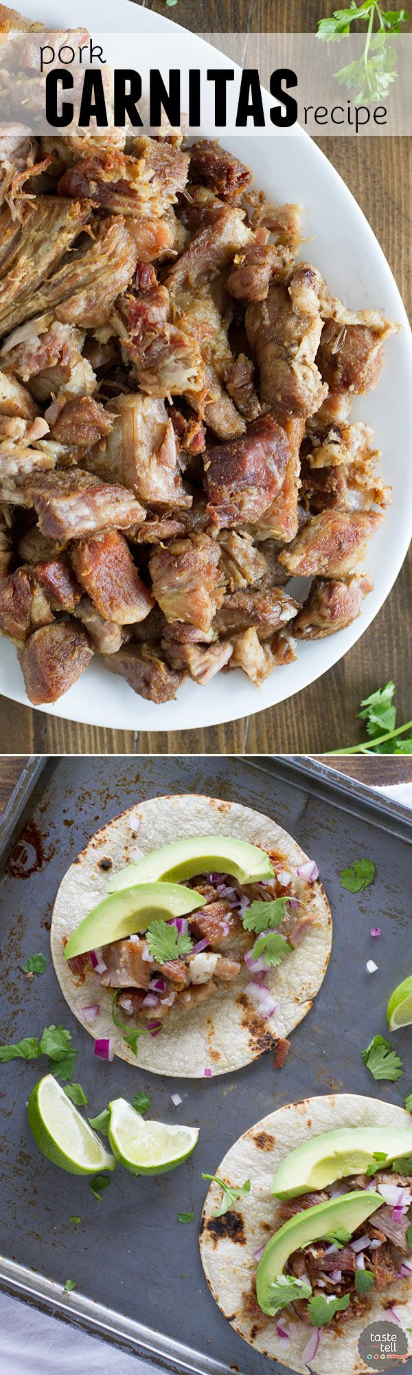 Great food doesn't have to be complicated - this Pork Carnitas Recipe is so simple but it will blow your socks off. Serve the carnitas in tacos, burritos, enchiladas, or however your heart desires!