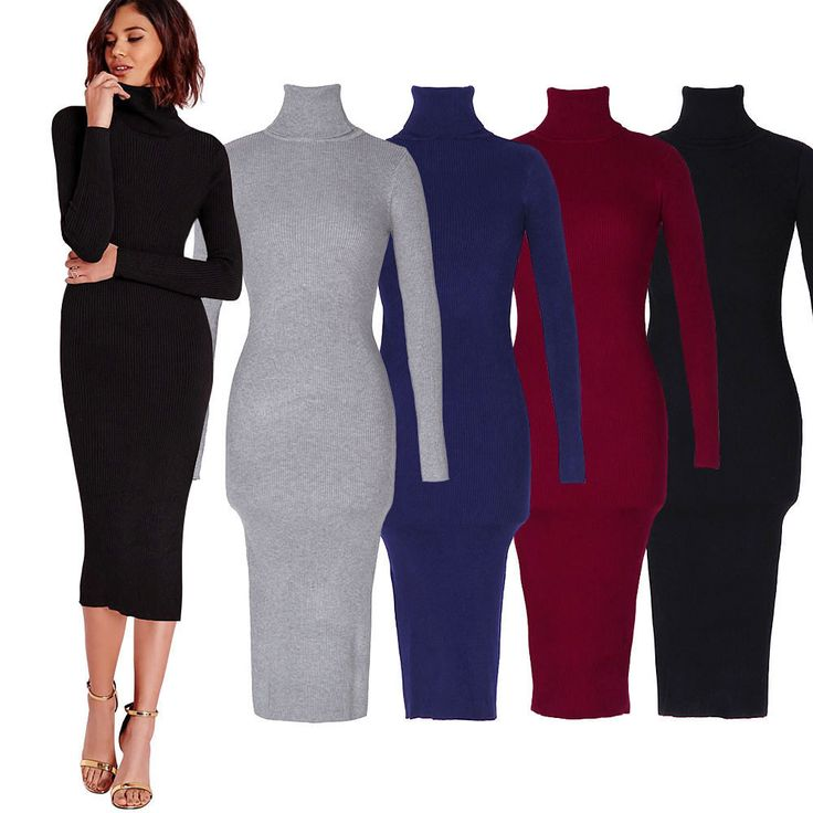 Gamiss Women Autumn Winter Sweater Knitted Dresses Slim Elastic Turtleneck Long Sleeve Sexy Lady Bodycon Robe Dresses Vestidos  -Material:70%Viscose 30%Polyester  -Type:Dress  -Color:Black Gray Black Red  -Size:One Size  -Occasion:Work/Office w...