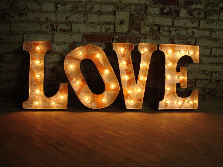 marquee letter Broadway style LOVE 18 inches tall