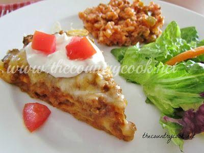 Taco Bake {Mexican Pizza}