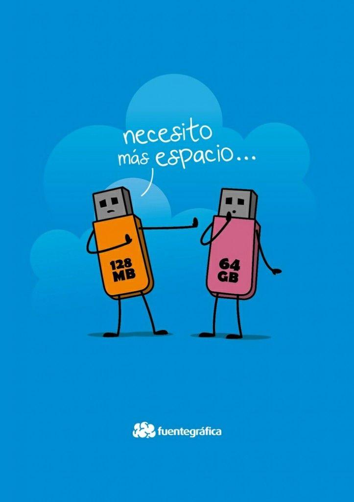 """La nube, la solución ideal para los que """"necesitan espacio"""" #cloud #cloudcomputing #humor"""