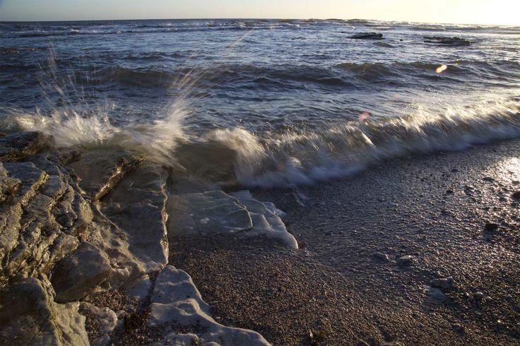 Waves at Sysne Udd, Östergarn, Gotland. See more: http://www.gotlandnature.com/en/