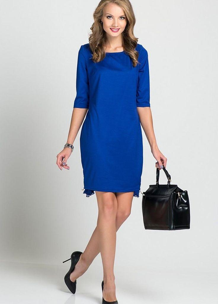 Вечернее платье в пол темно-синего цвета с кружевной полочкой