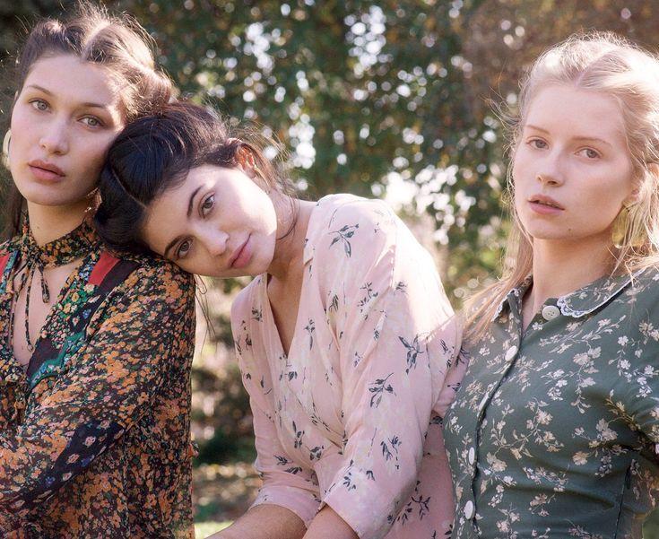 Bella Hadid, Kylie Jenner & Lottie Moss by Gordon von Steiner for Vogue US January 2016