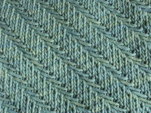 Knitting Woven Stitch Pattern : Woven Diagonal Herringbone Knitting Stitch Ideas Pinterest