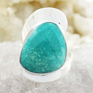Green Stone Size Ring Jewelry 925 Sterling Silver Women Ring Jewellry Size 9
