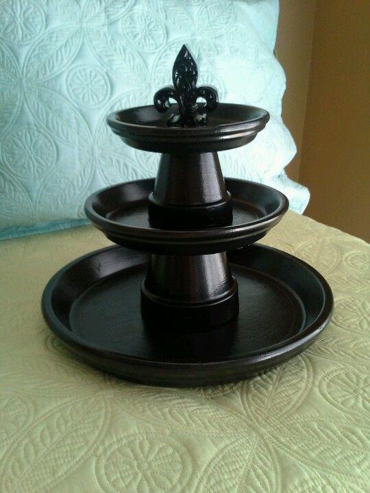 Terra cotta potten / schalen etagère