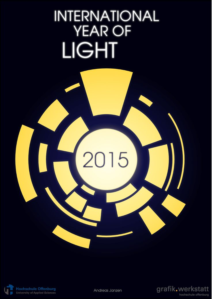 Poster created by Andreas Janzen, Offenburg University. #iyl2015