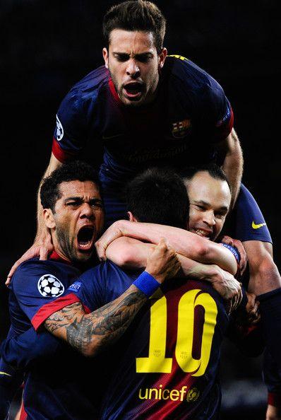 Jordi Alba - Dani Alves - Andrés Iniesta - Lionel Messi