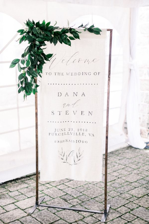 Classic Virginia Farm Wedding Unique Wedding Signs Wedding Welcome Signs Wedding Welcome Board