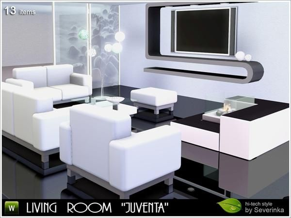 The Living Room Of The 13 Subjects In The High Tech Style. Found In TSR  Category U0027Sims 3 Living Room Setsu0027 Part 49