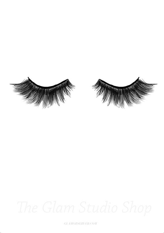 Eyelash-Instant Download Illustration by TheGlamStudio on Etsy